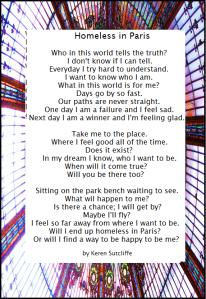 Homeless in Paris (lyrics)